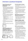 Sony MHS-PM5 - MHS-PM5 Consignes d'utilisation Slovaque - Page 2