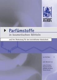 Parfümstoffe in kosmetischen Mitteln und ihre Bedeutung für - Herwe