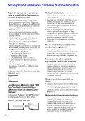 Sony MHS-PM5 - MHS-PM5 Consignes d'utilisation Roumain - Page 2