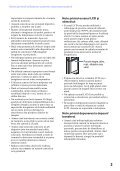 Sony MHS-PM5 - MHS-PM5 Consignes d'utilisation Roumain - Page 3