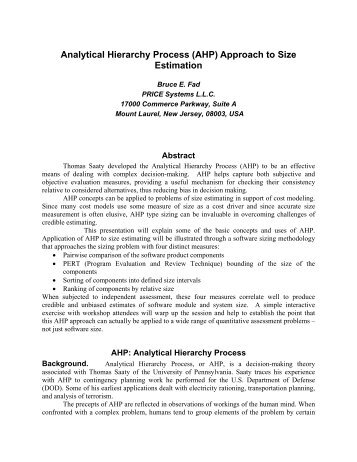 an application of the analytical hierarchy A case study on the application of the analytic hierarchy process (ahp) to assess agri-environmental measures of the rural development programme.