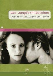 Broschüre zu Jungfräulichkeit - Plattform gegen Zwangsheirat