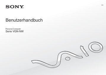 Sony VGN-NW2MTF - VGN-NW2MTF Mode d'emploi Allemand