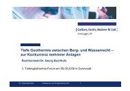 Tiefe Geothermie zwischen Berg- und Wasserrecht - zur Konkurrenz ...