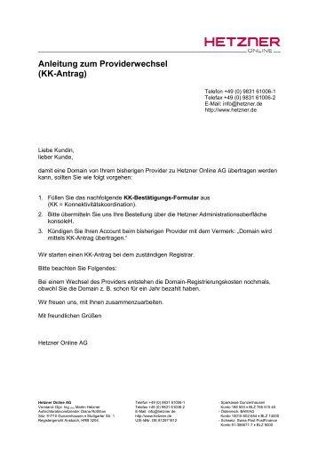KK-Antrag - Hetzner Online AG
