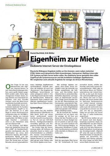 Ohne - Hetzner Online AG