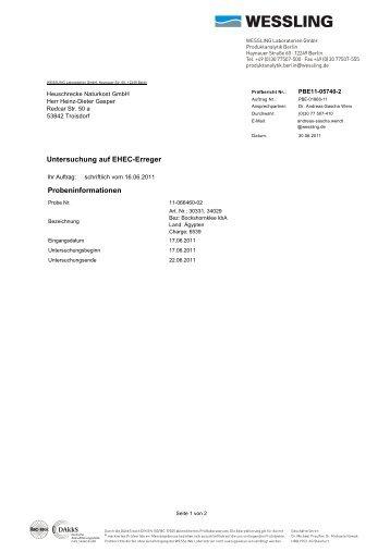 Art.nr. 34029 + 30331, Charge 6539 - HEUSCHRECKE Naturkost ...