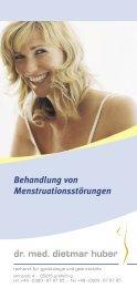 Behandlung von Menstruationsstörungen -  Frauenarzt Dr. med ...