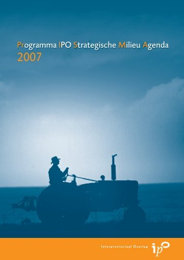 PRogramma IPO Strategisch Milieu Agenda, PRISMA 2007