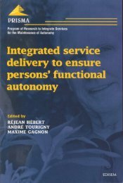 Integrated service delivery to ensure persons - Prisma
