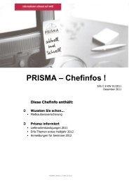 Diese Chefinfo enthält - Prisma Fachhandels AG