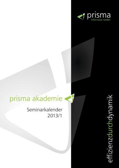 Seminarkalender 2013/1 - Prisma Informatik