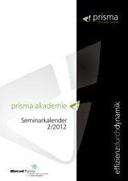 Seminarkalender 2012 2 Akademie - Prisma Informatik