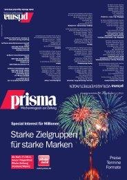 Starke Zielgruppen für starke Marken - prisma Verlag