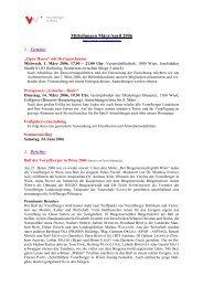 Newsletter März - April - Vorarlberger in Wien