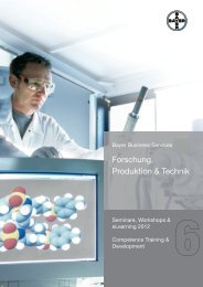 Forschung, Produktion & Technik - Competence Training der Bayer ...