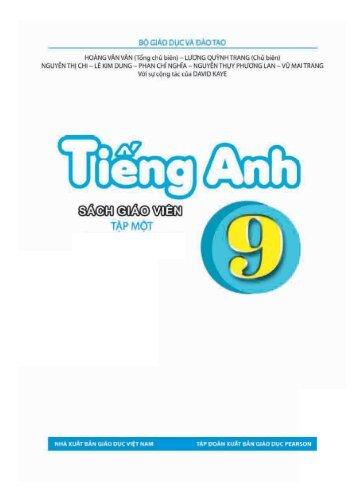 Sách giáo viên Tiếng Anh 9 Thí điểm 2 tập (Pilot English 9 for Teacher)
