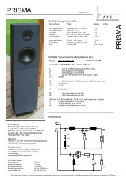 PRISMA P R IS M A - Acoustic Systems Engineering