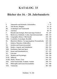KATALOG 33 BÄcher des 16. - 20. Jahrhunderts - Wiener ...