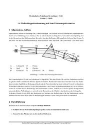 Prismenspektrometer - Institut für Experimentelle und Angewandte ...