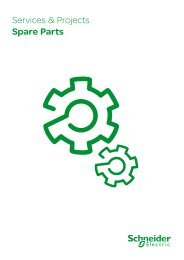 Spare Parts Brochure - Services & Projects - Schneider Electric