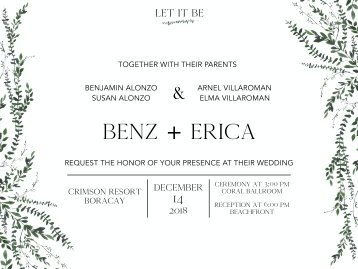Let it BE 2018 Digital Wedding Invitation