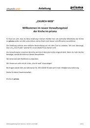 Bedienungsanleitung church-web Vers 7 - Kirche im Prisma