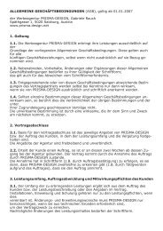 (AGB), gültig ab 01.01.2007 der Werbeagentur PRISMA-DESIGN ...