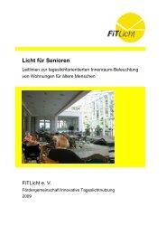 Licht für Senioren - Fördergemeinschaft Innovative Tageslichtnutzung