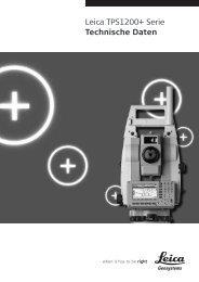 Leica TPS1200+ Serie Technische Daten - SERTOPO.net