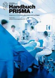 Handbuch PRISMA - Gesundheitsdirektion - Kanton Zürich