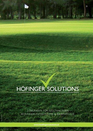 Sportanlagen - Höfinger Solutions