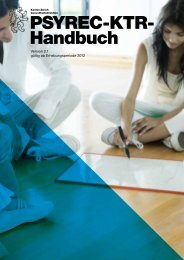 PSYREC-KTR- Handbuch - Gesundheitsdirektion - Kanton Zürich