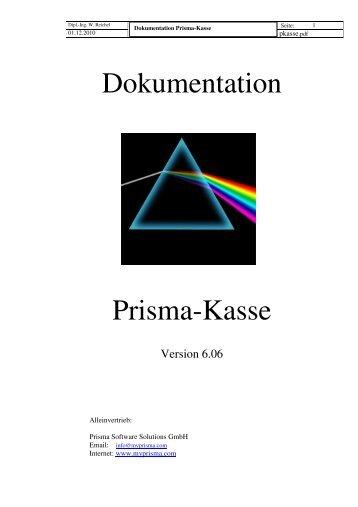 Dokumentation Prisma-Kasse - Prisma Software Solutions GmbH
