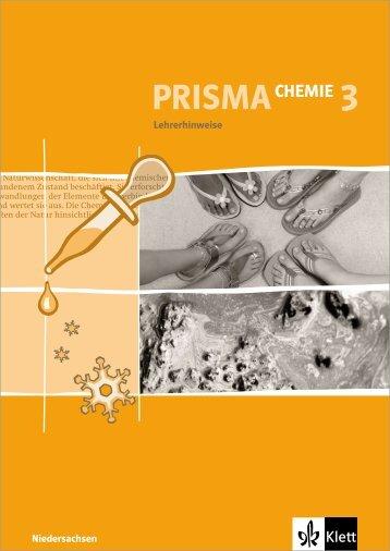 Lehrerhinweise zu PRISMA Chemie 3 - Ernst Klett Verlag
