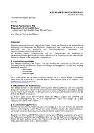ARCHIVIERUNGSVERTRAG - Prisma Fachhandels AG