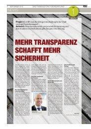 transparenz schafft mehr sicherheit - PrismaLife AG