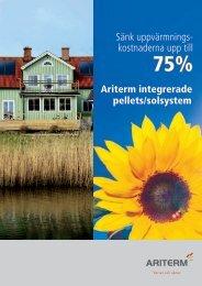 Ariterm integrerade pellets/solsystem Sänk uppvärmnings ...