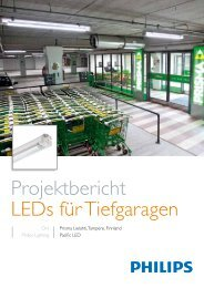 Projektbericht LEDs für Tiefgaragen - Philips Lighting