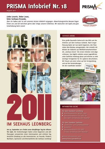 PRISMA Infobrief Nr. 18 - Seehaus Leonberg