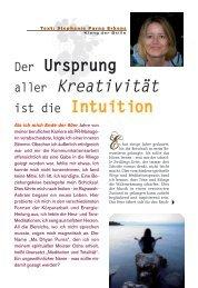 Der Ursprung aller Kreativität ist die Intuition - Klang der Stille