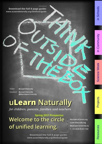 uLearn Naturally Prospectus and Service Guide - Spring 2017 - Think Outside The Box