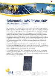 Solarmodul JMS Prisma 60P - jms Solar Handel GmbH