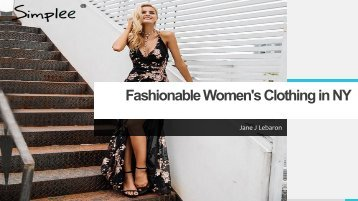 fashionable women's clothing in NY