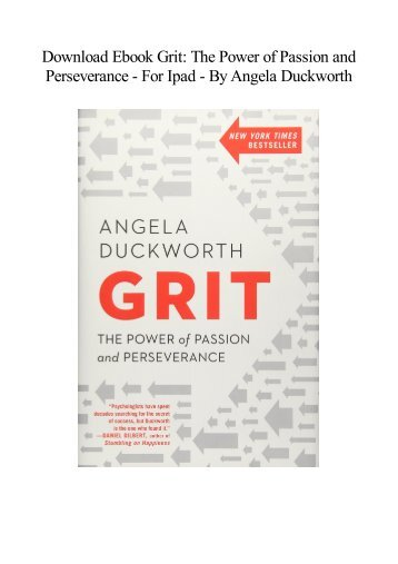 Grit angela duckworth pdf free download