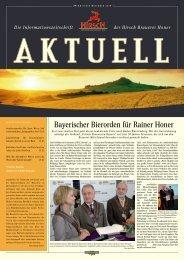 aktuell - Hirsch-Brauerei Honer GmbH & Co. KG