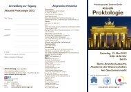 Aktuelle Proktologie Samstag, 12. Mai 2012 9:00-14:30 Uhr Berlin ...