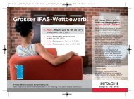 Grosser IFAS- Wettbewerb! - Hitachi Medical Systems
