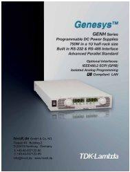 GENH Series Programmable DC Power Supplies 750W in ... - hivolt.de