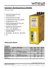 Datenblatt / Betriebsanleitung DPS404A - hivolt.de